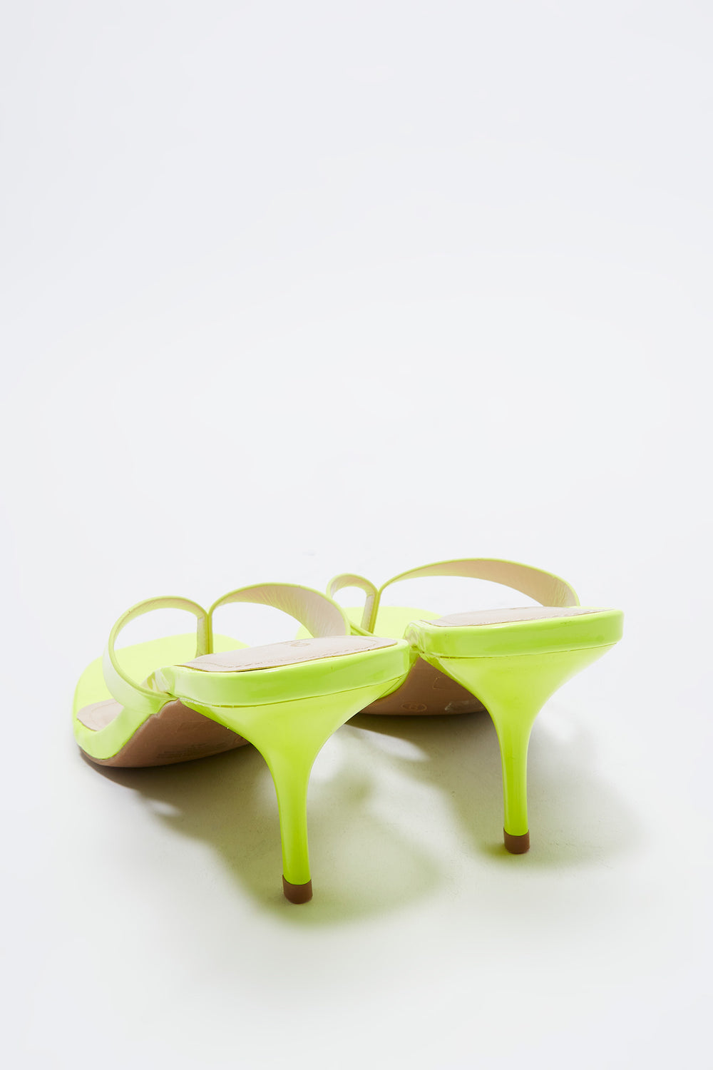 Stiletto Thong Sandal Neon Yellow