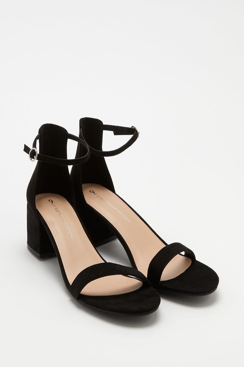 Open-Toe Block Heel Sandal Black
