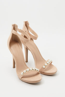 Pearl Strappy Stiletto Sandal