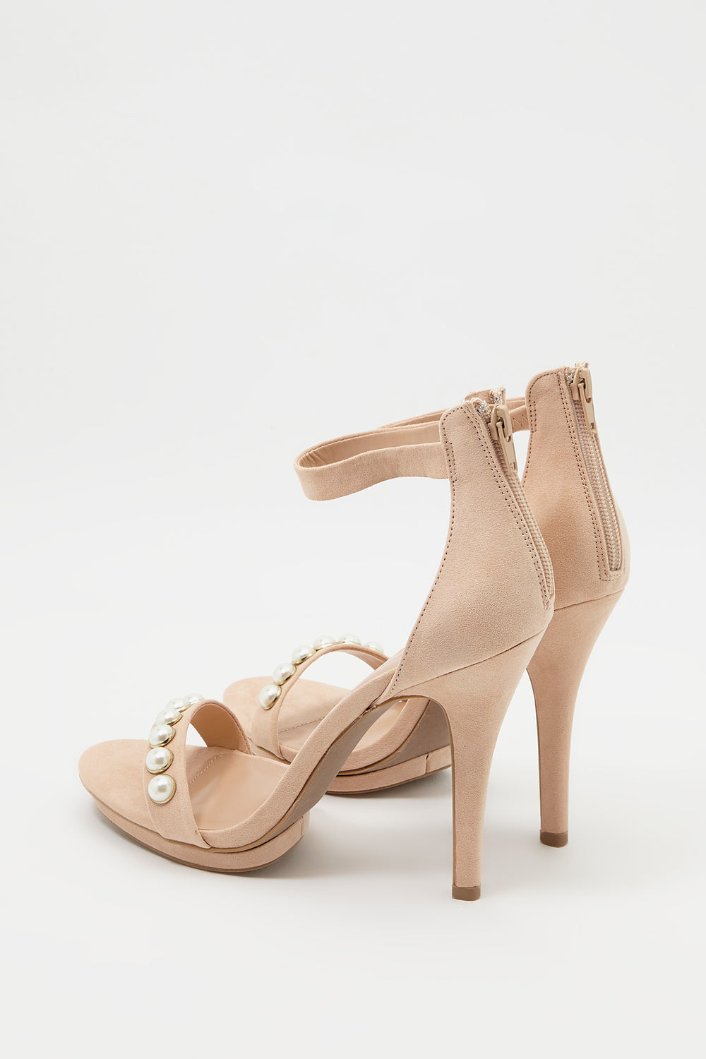 Pearl Strappy Stiletto Sandal Natural