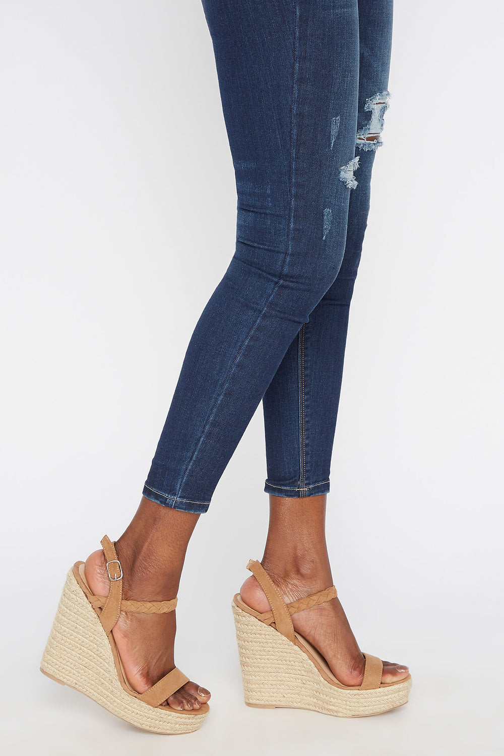 Woven Espadrille Wedge Sandal Natural