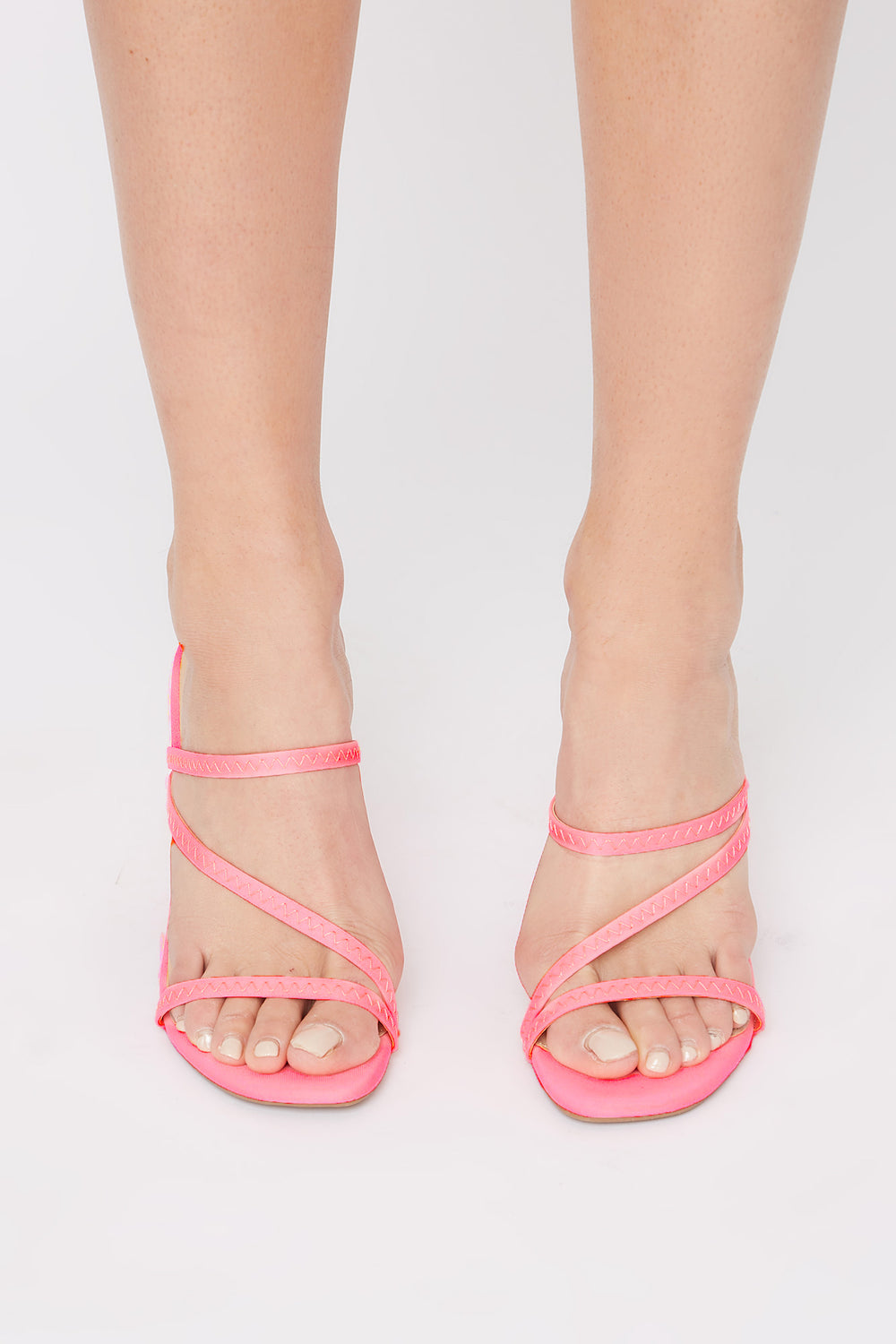 Strappy Mule Neon Pink