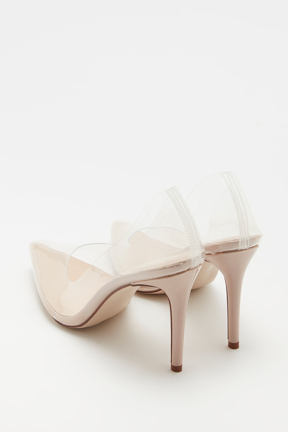 Clear Stiletto Pump Natural