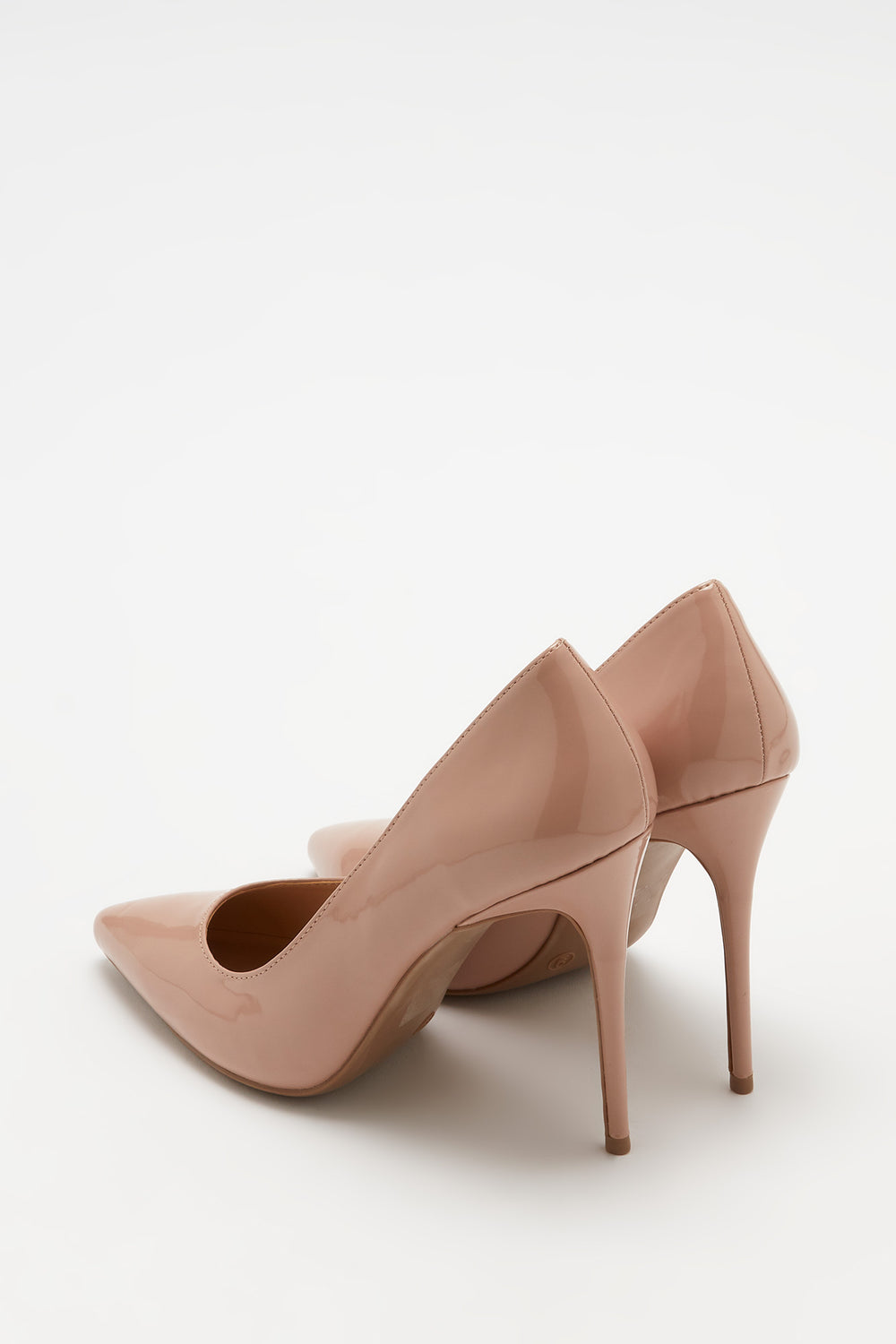 Patent Stiletto Pump Natural