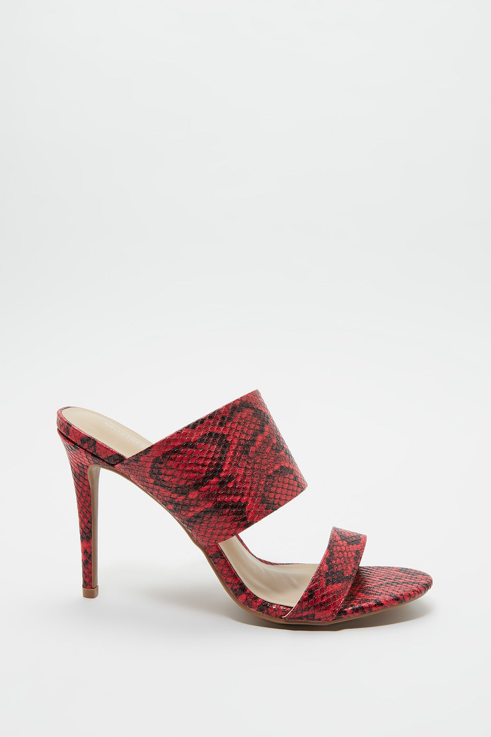 Double Band Stiletto Mule Red