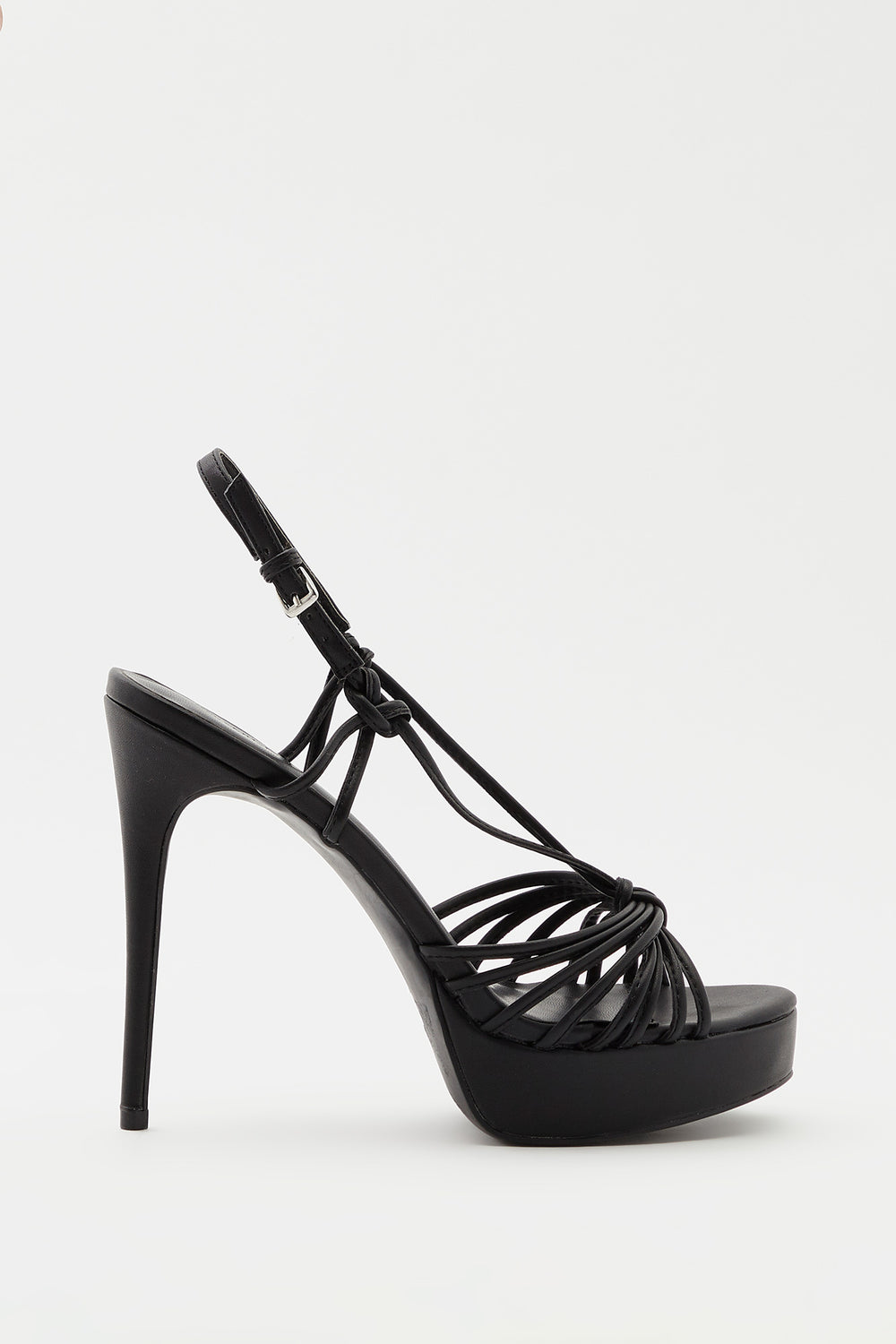 Strappy Platform Stiletto Sandal Black