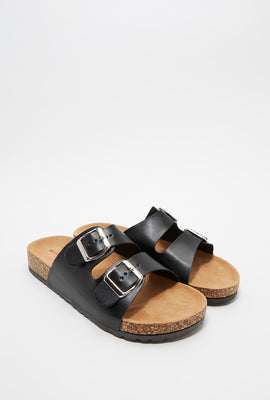 Dual Buckle Strap Cork Slide