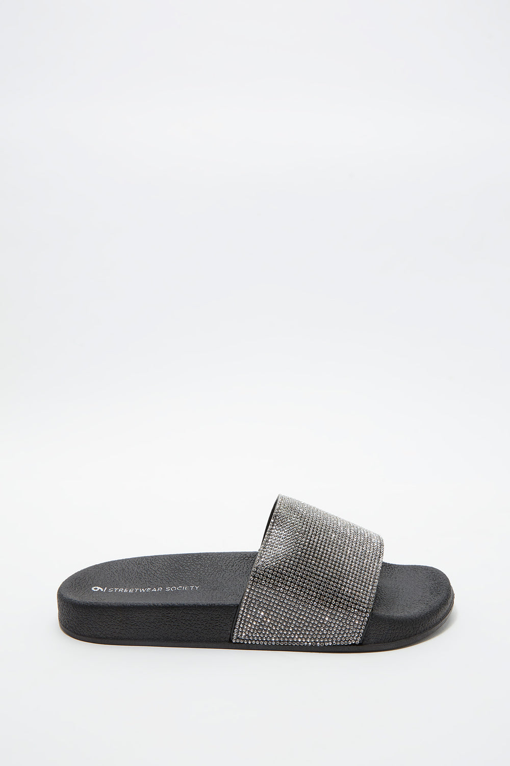 Rhinestone Slide Black