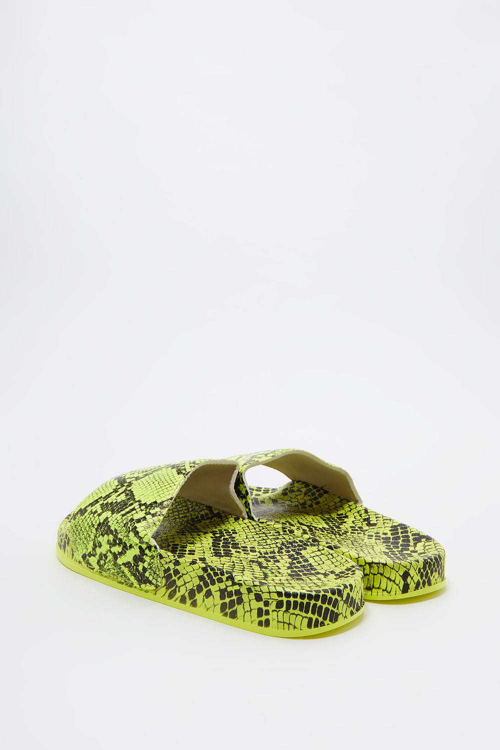 Snake Skin Slide Neon Yellow