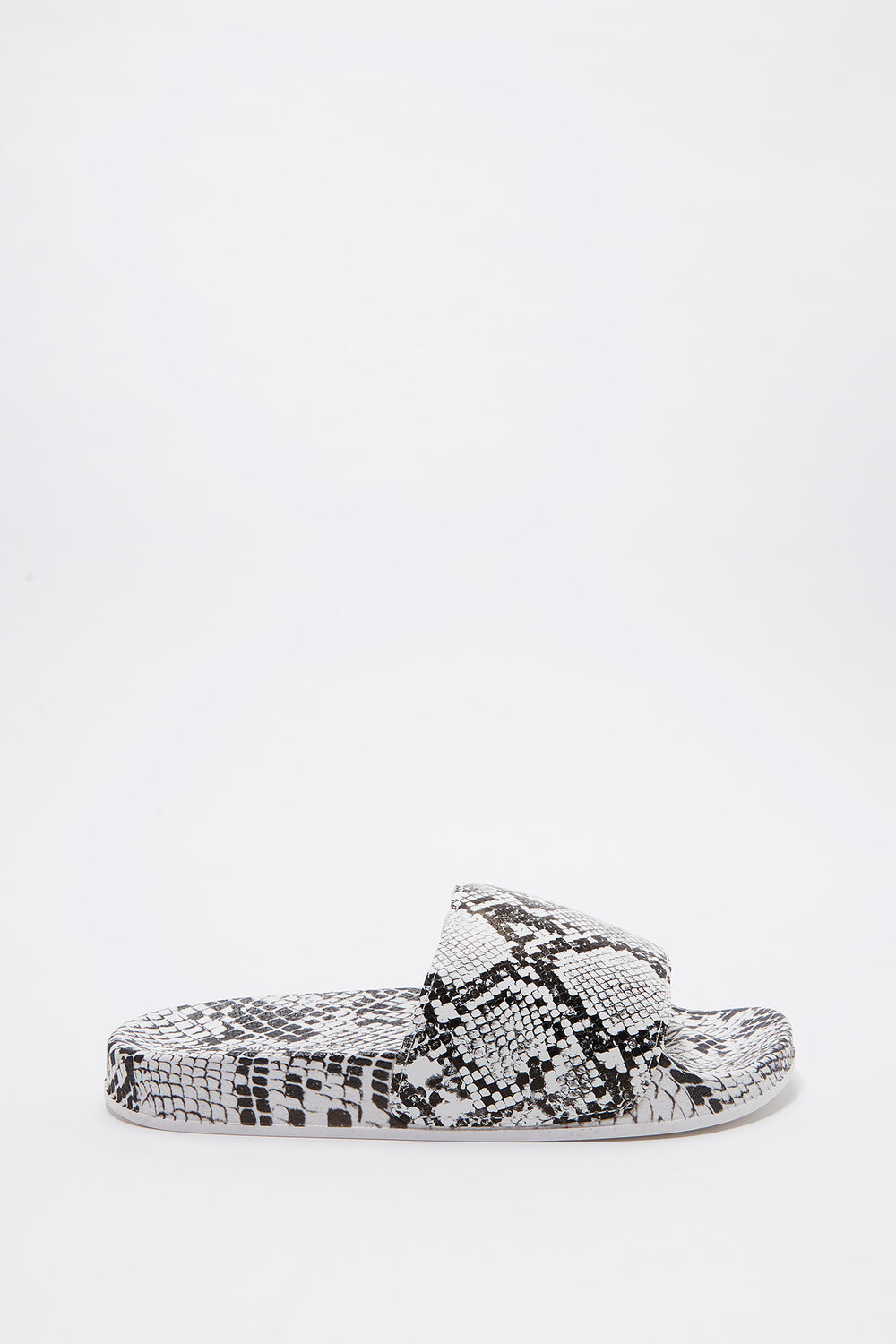 Snake Skin Slide Black with White