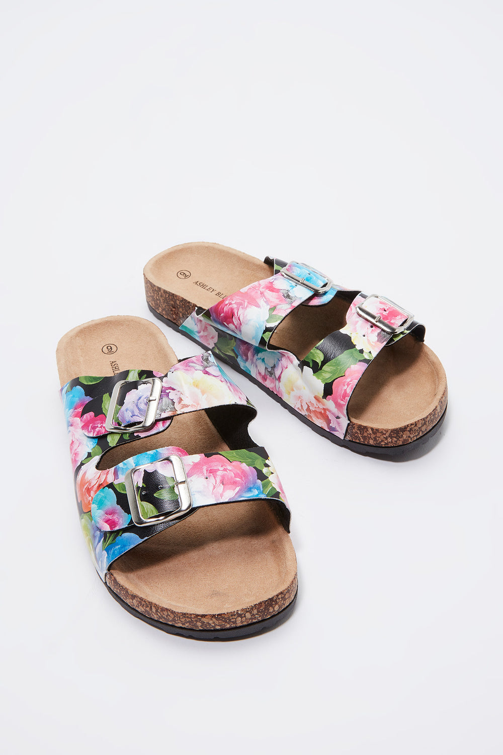 Floral Dual Buckle Slide Assorted