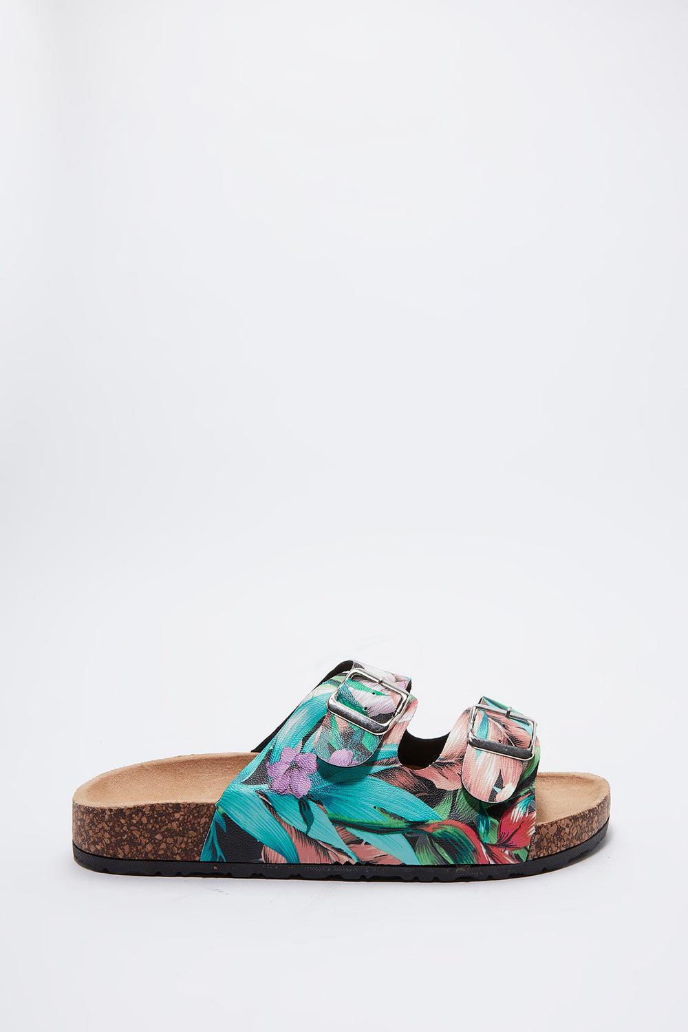 Floral Dual Buckle Slide Multi