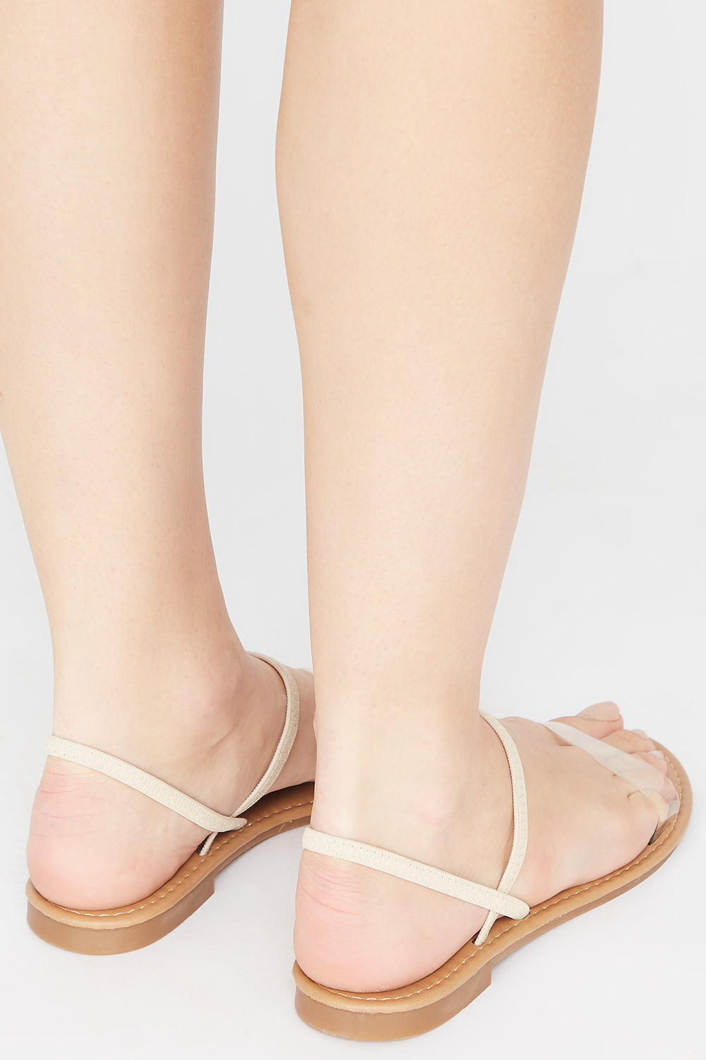 Single Band Elastic Slingback Sandal Natural