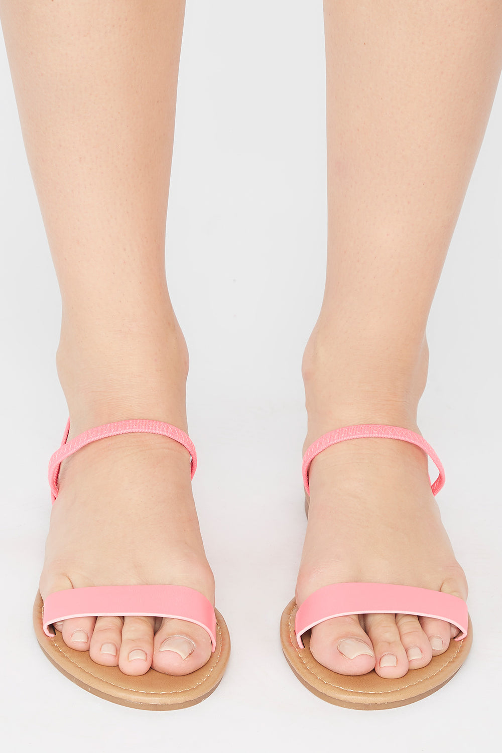 Single Band Elastic Slingback Sandal Neon Pink