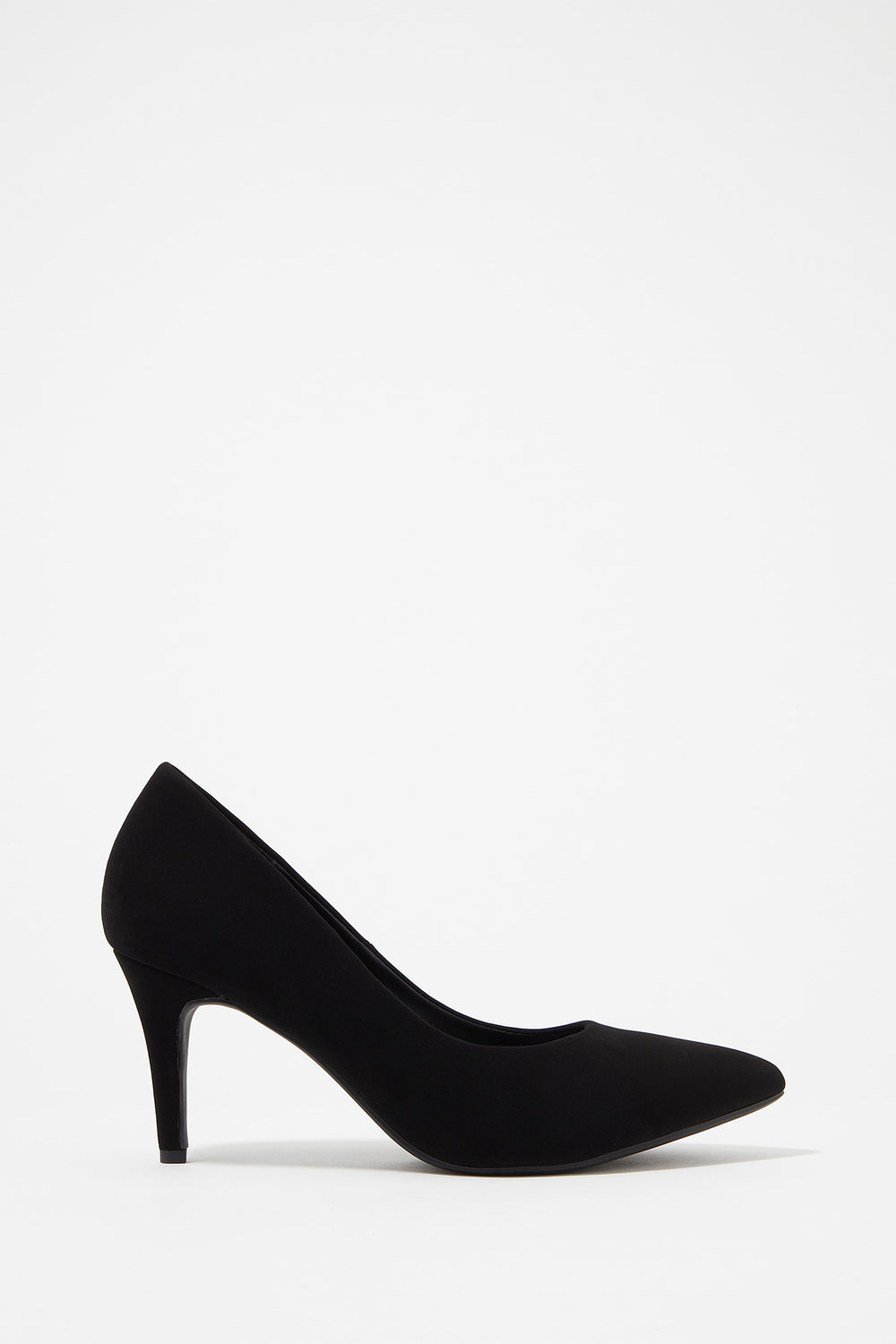 Pointed Toe Pump Heel Black