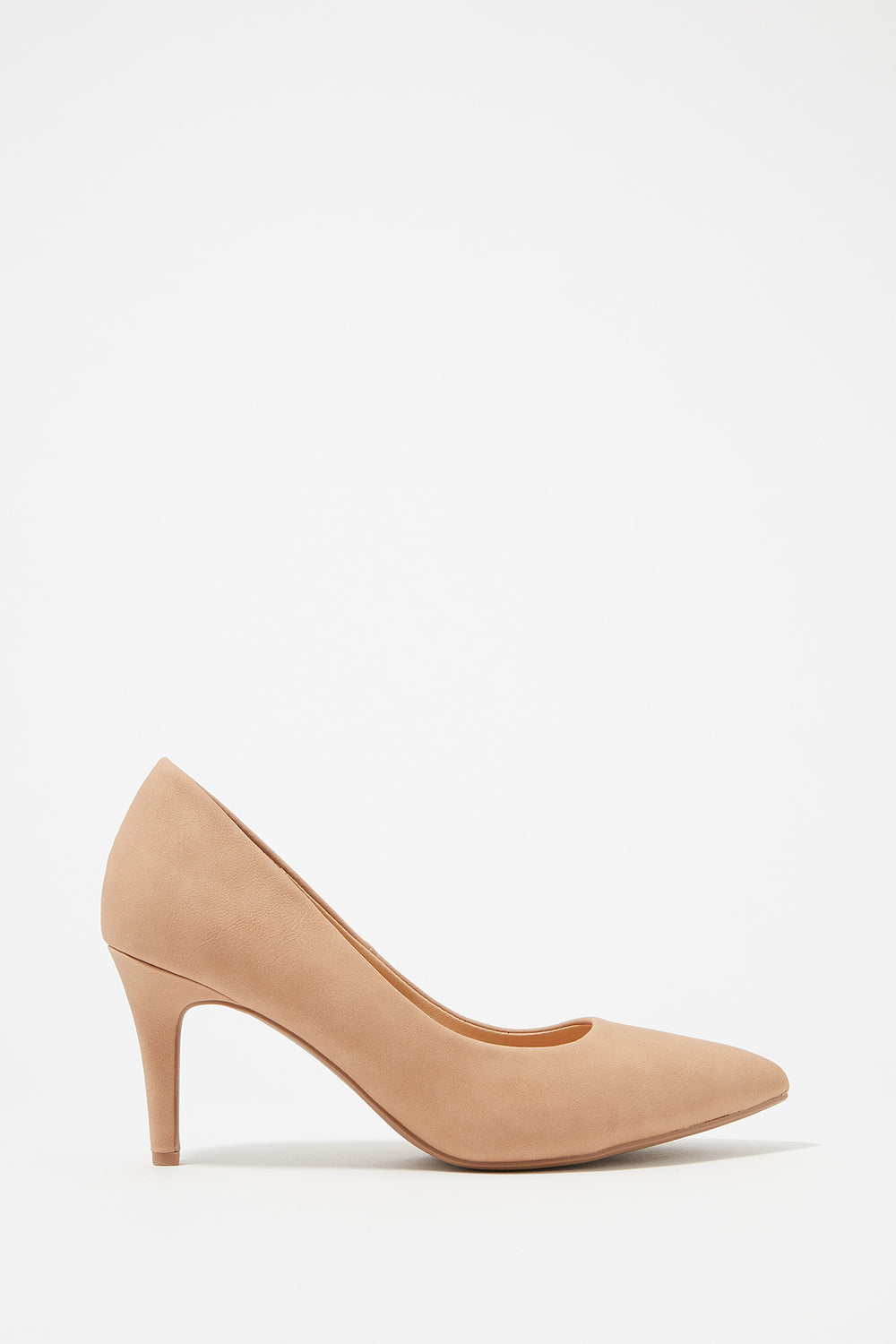 Pointed Toe Pump Heel Natural