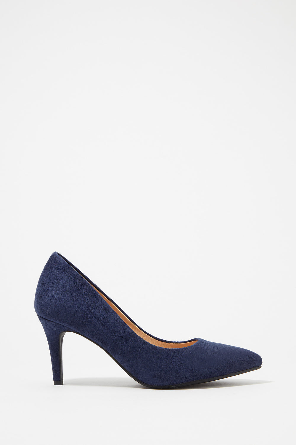 Pointed Toe Pump Heel Navy