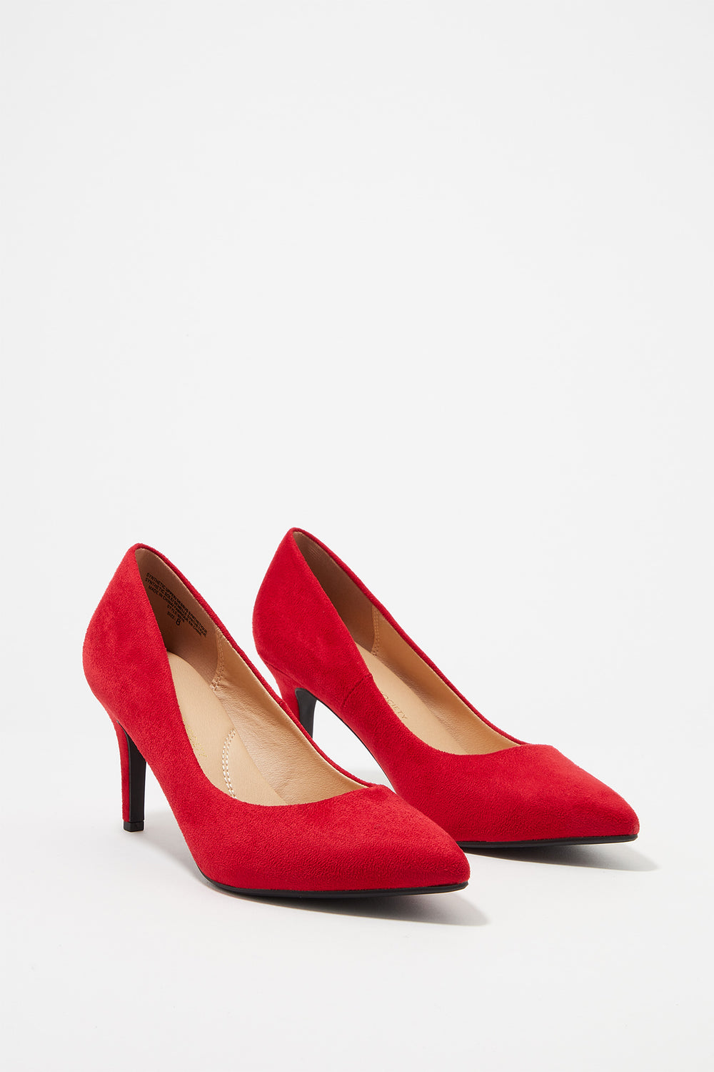 Pointed Toe Pump Heel Red