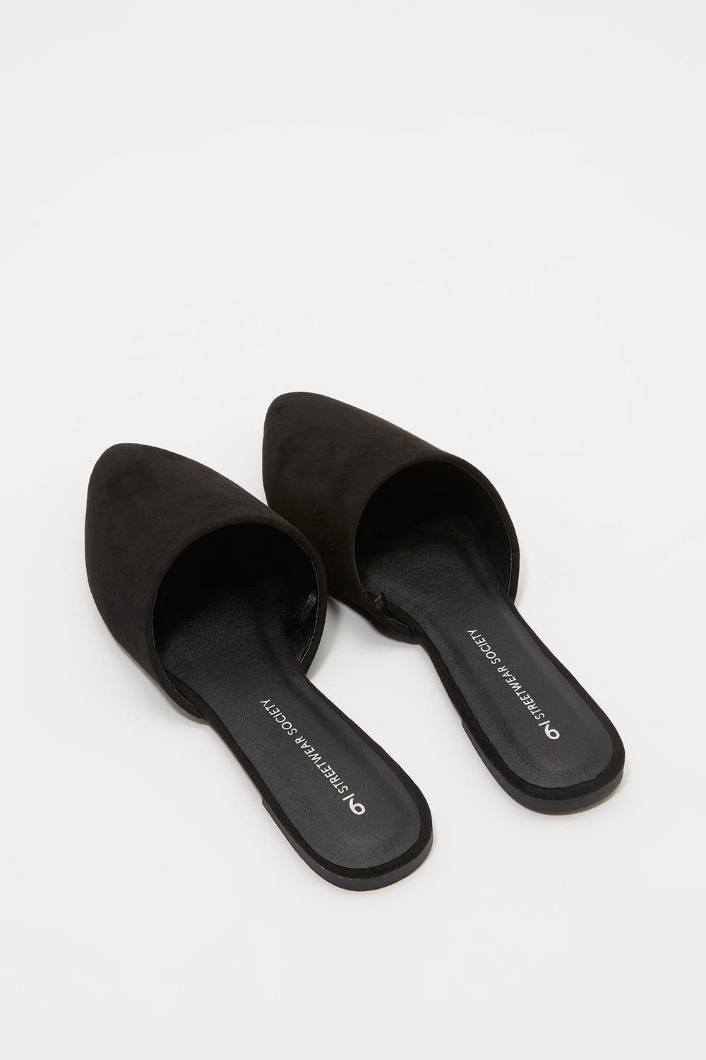 Pointed Mule Flat Black