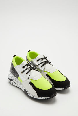 Lace-Up Speckle Outsole Sneaker