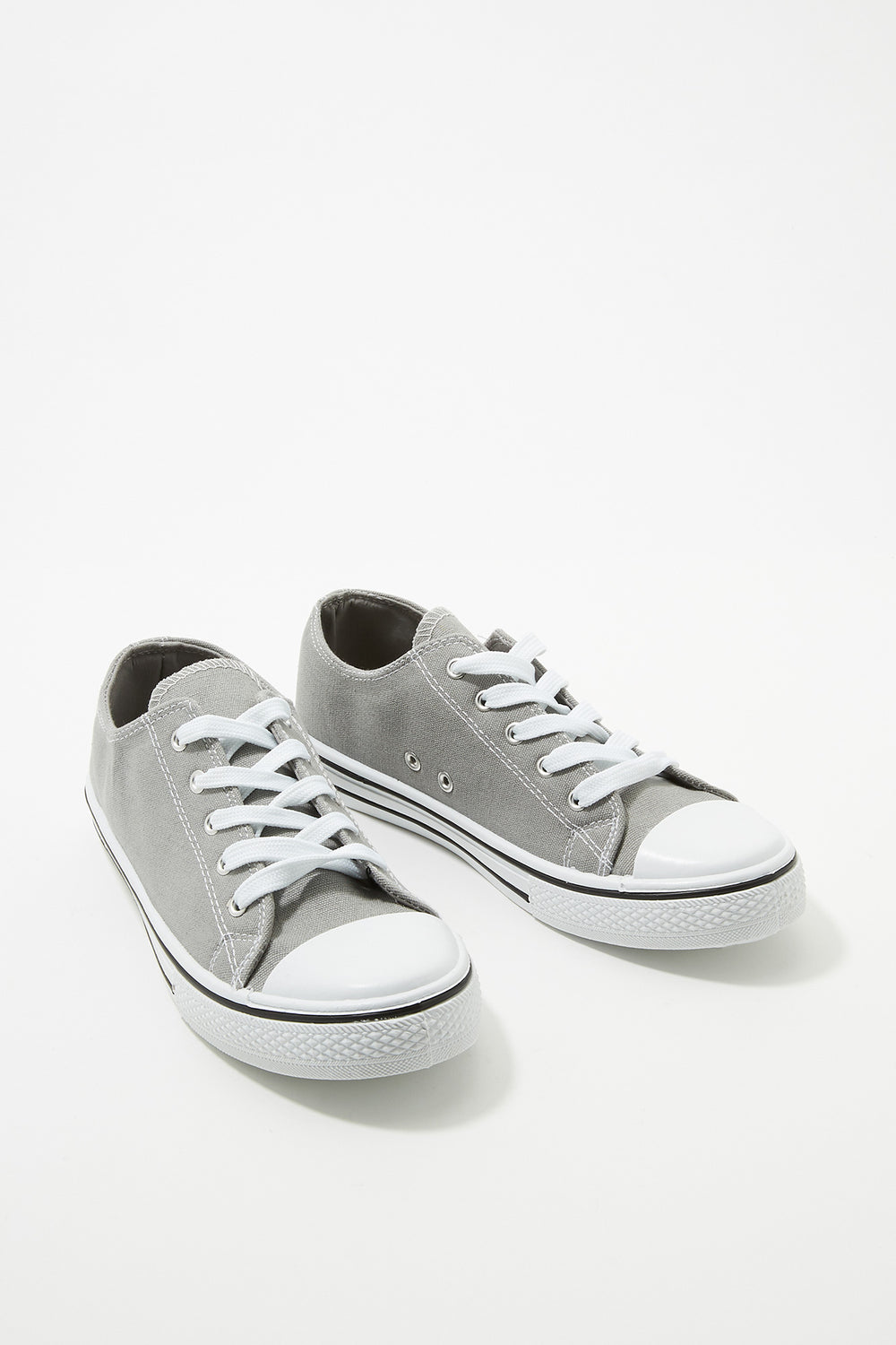 Women Shoes Classic Canvas Lace-Up Sneaker Heather Grey