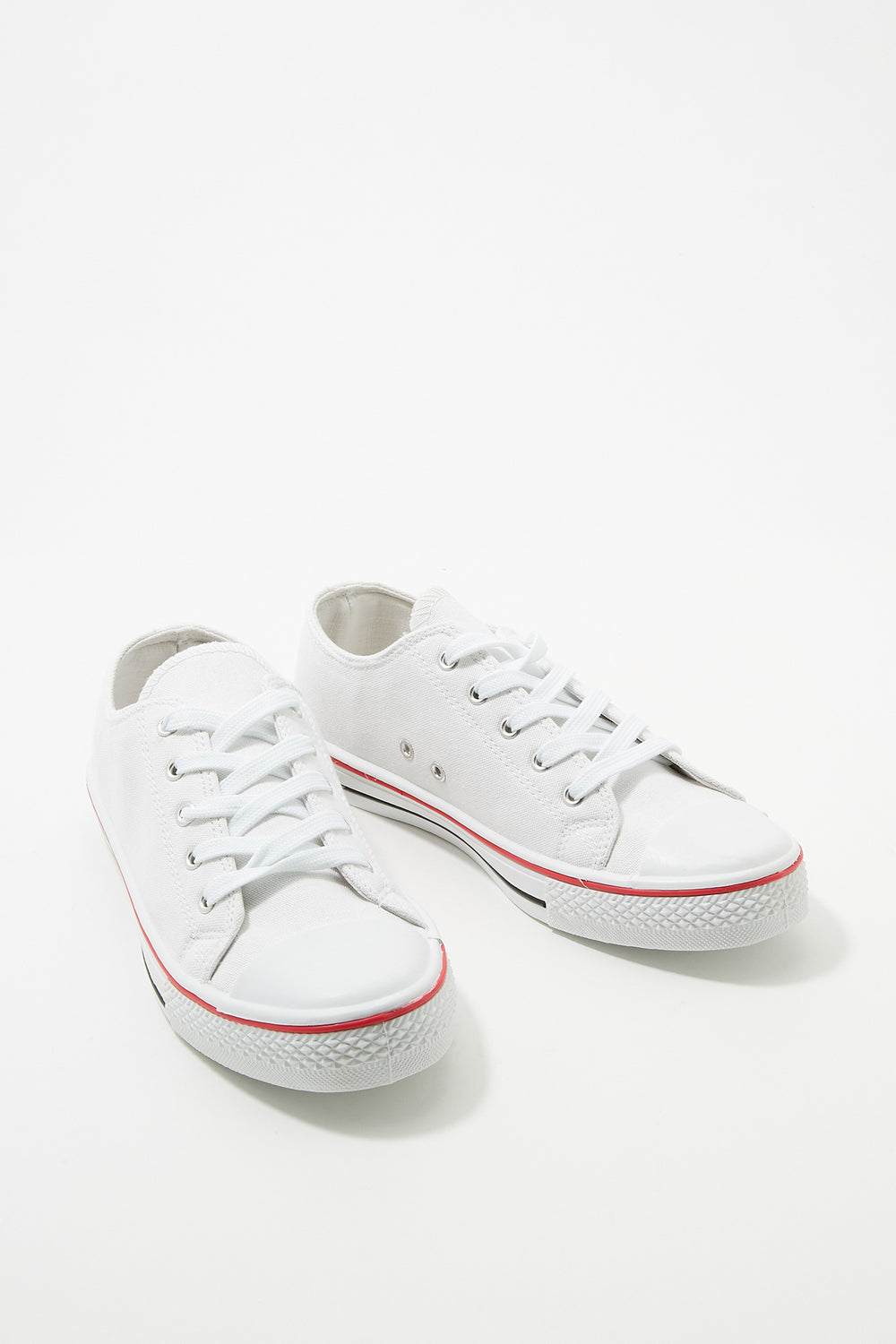 Women Shoes Classic Canvas Lace-Up Sneaker White