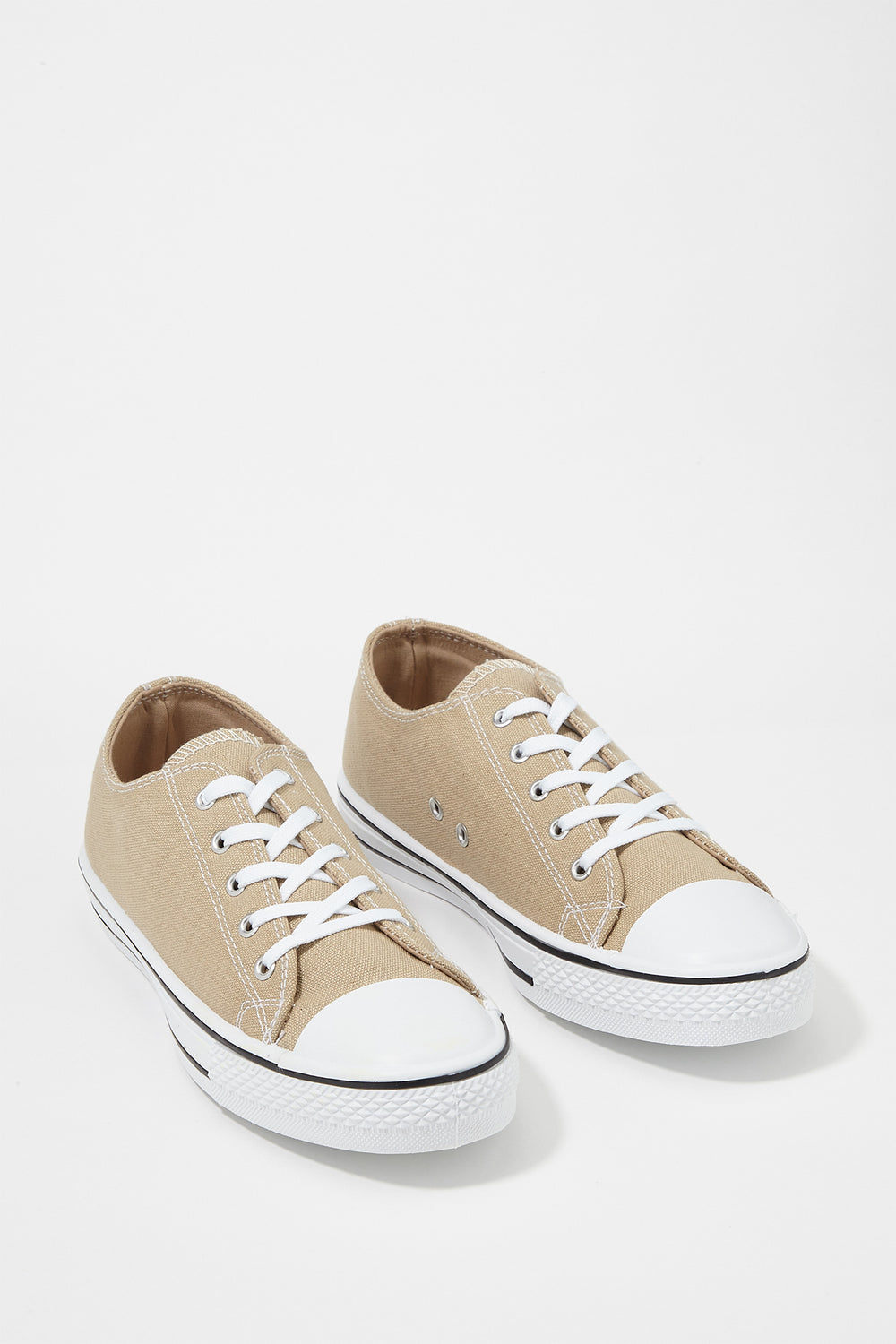 Women Shoes Classic Canvas Lace-Up Sneaker Natural