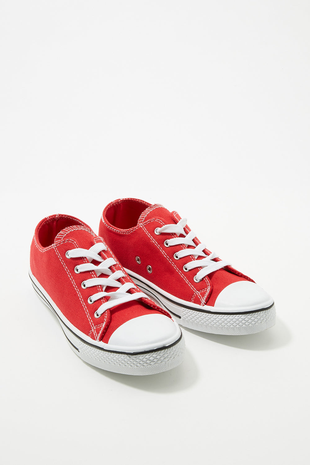 Women Shoes Classic Canvas Lace-Up Sneaker Red