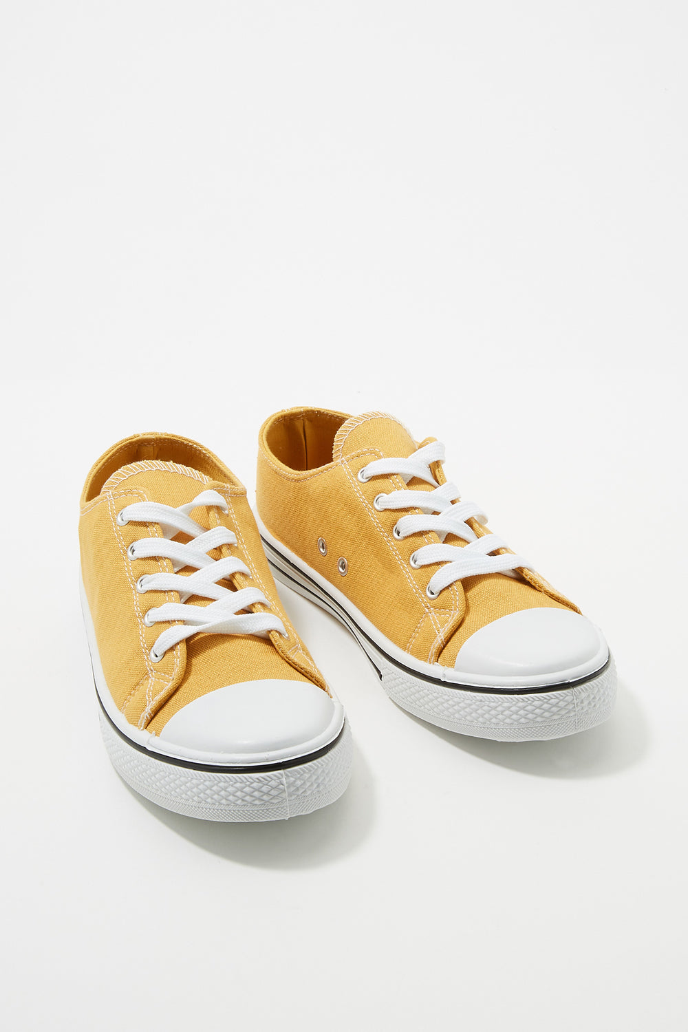Women Shoes Classic Canvas Lace-Up Sneaker Mustard