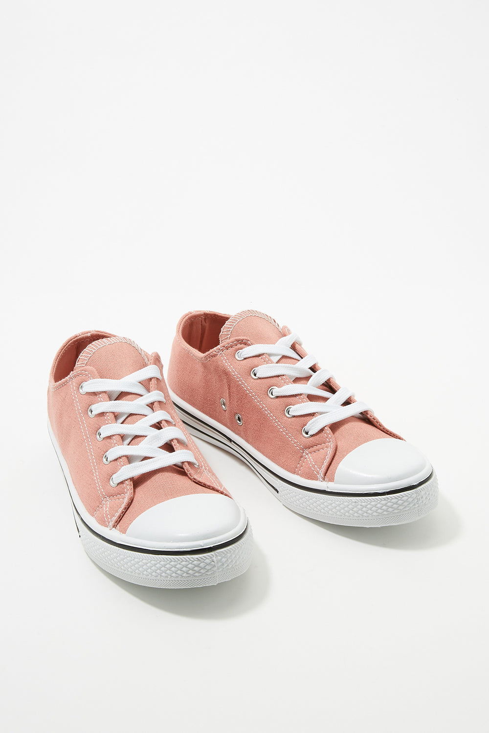 Women Shoes Classic Canvas Lace-Up Sneaker Light Pink