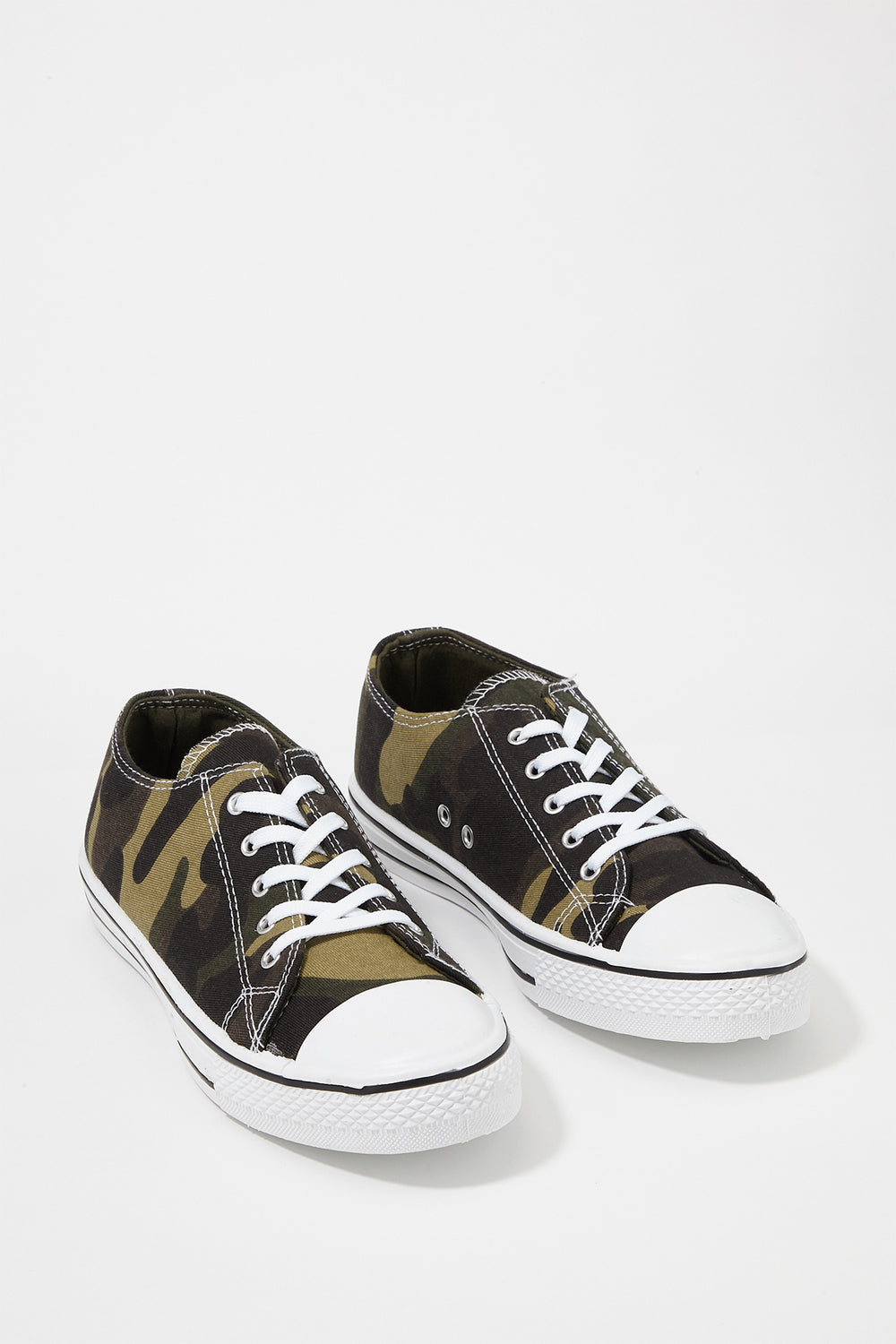 Women Shoes Classic Canvas Lace-Up Sneaker Camouflage