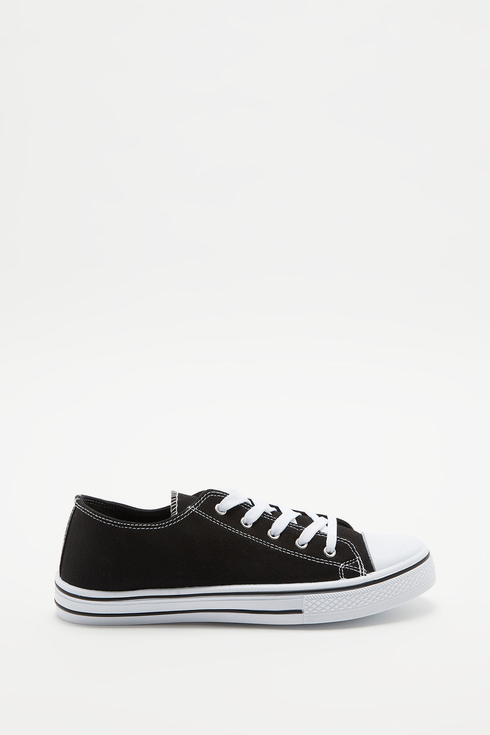 Canvas Lace-Up Sneaker Black