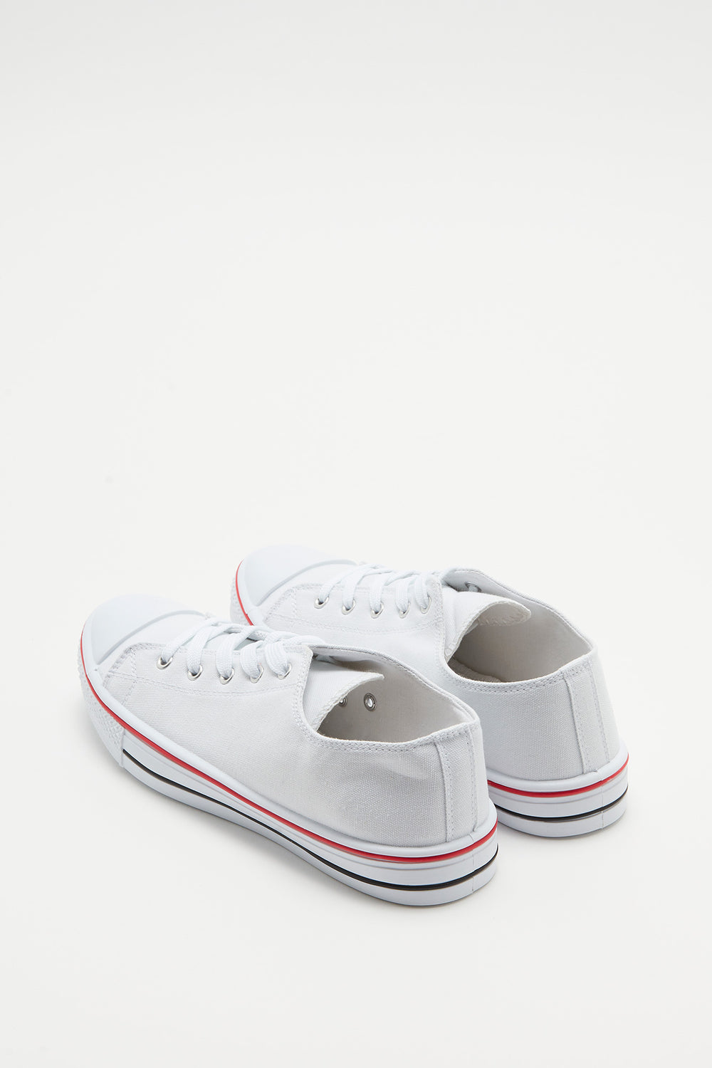 Canvas Lace-Up Sneaker White