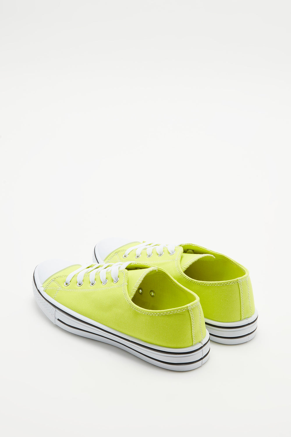 Canvas Lace-Up Sneaker Neon Yellow