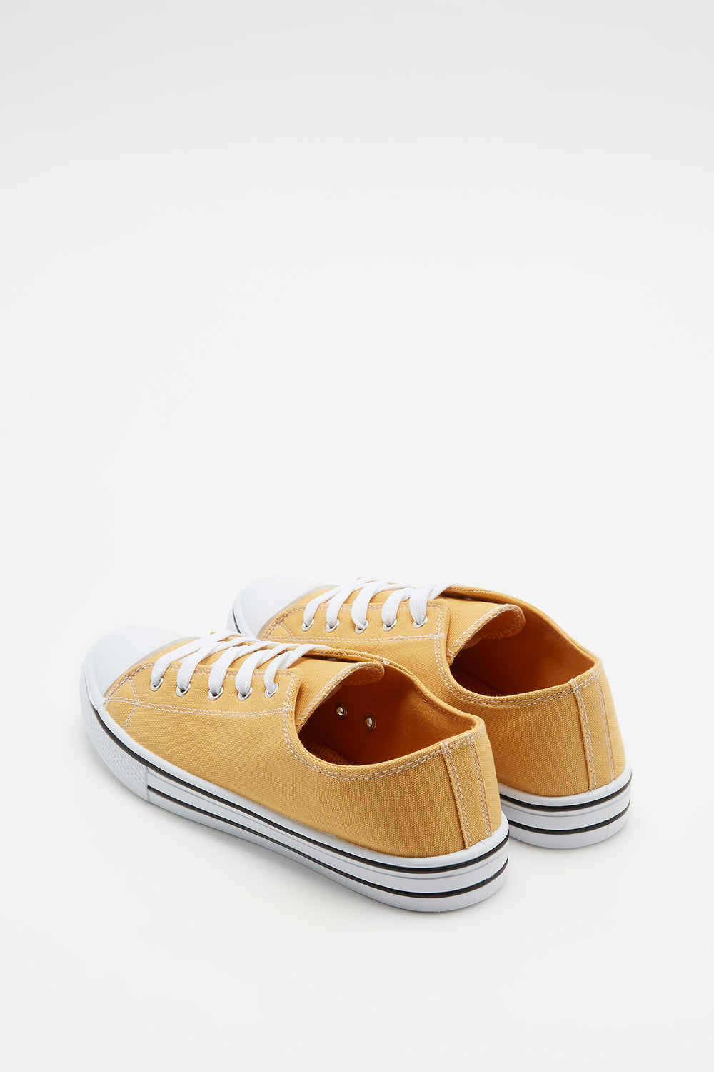 Canvas Lace-Up Sneaker Mustard