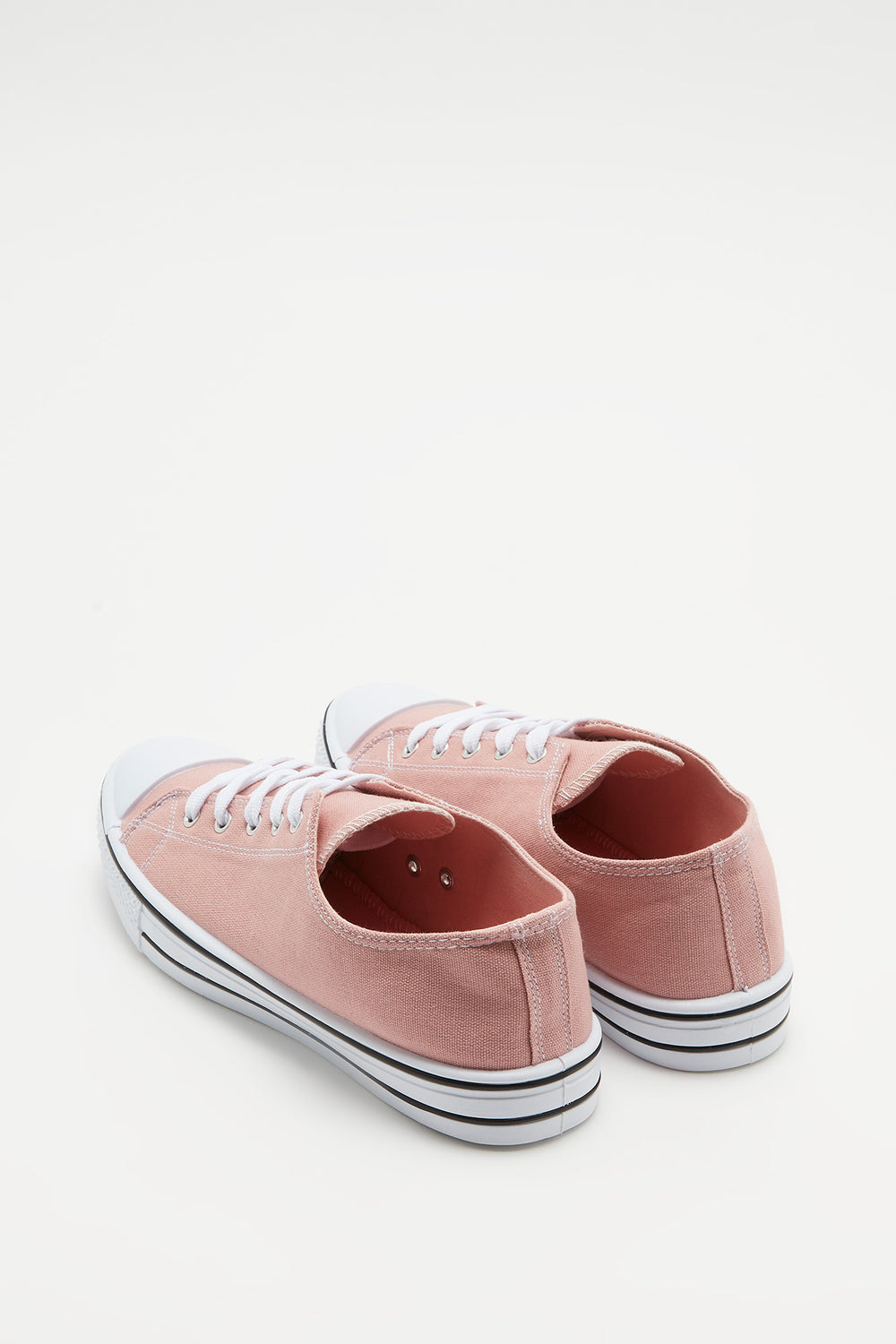 Canvas Lace-Up Sneaker Light Pink