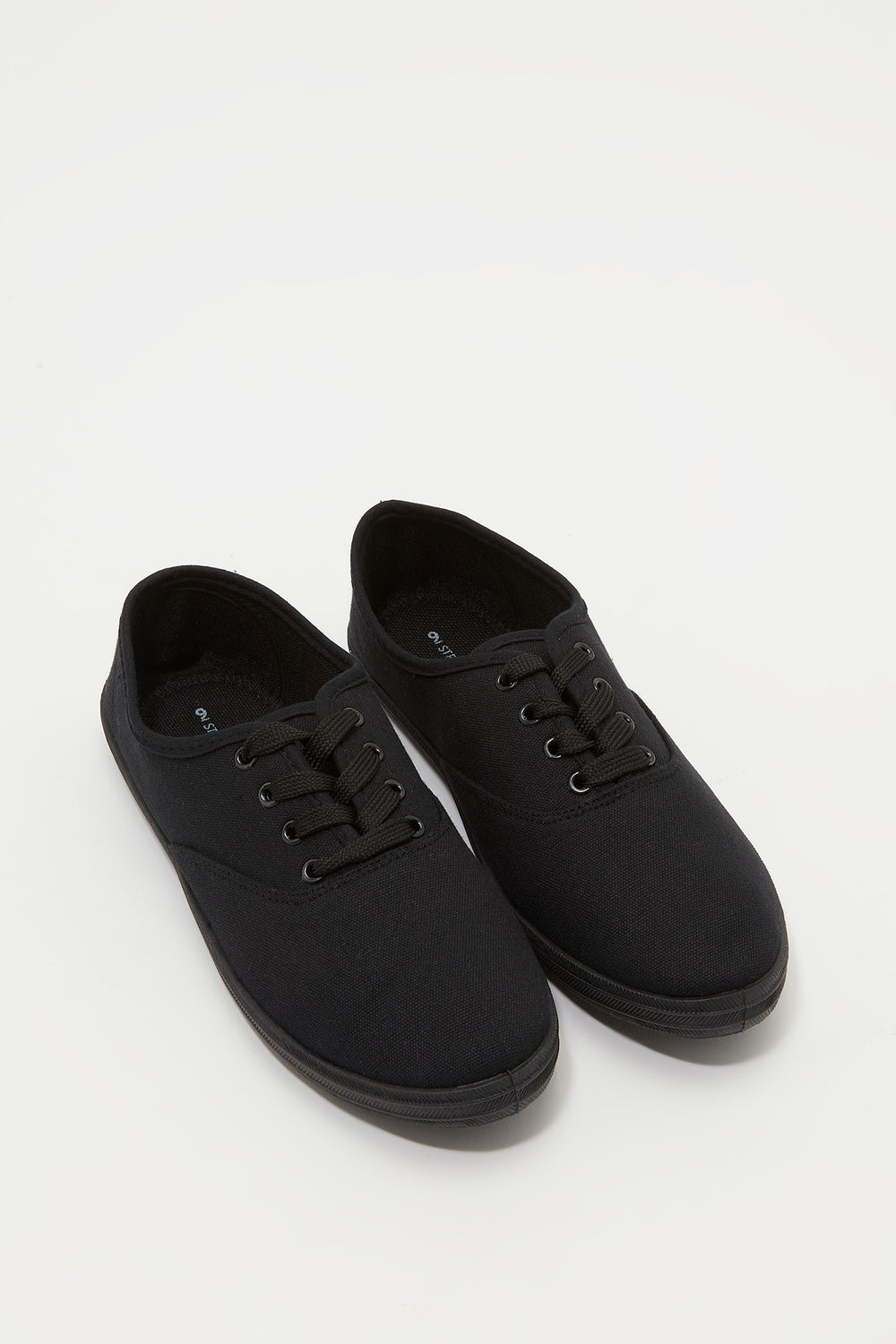 Classic Lace Up Tennis Shoe Jet Black