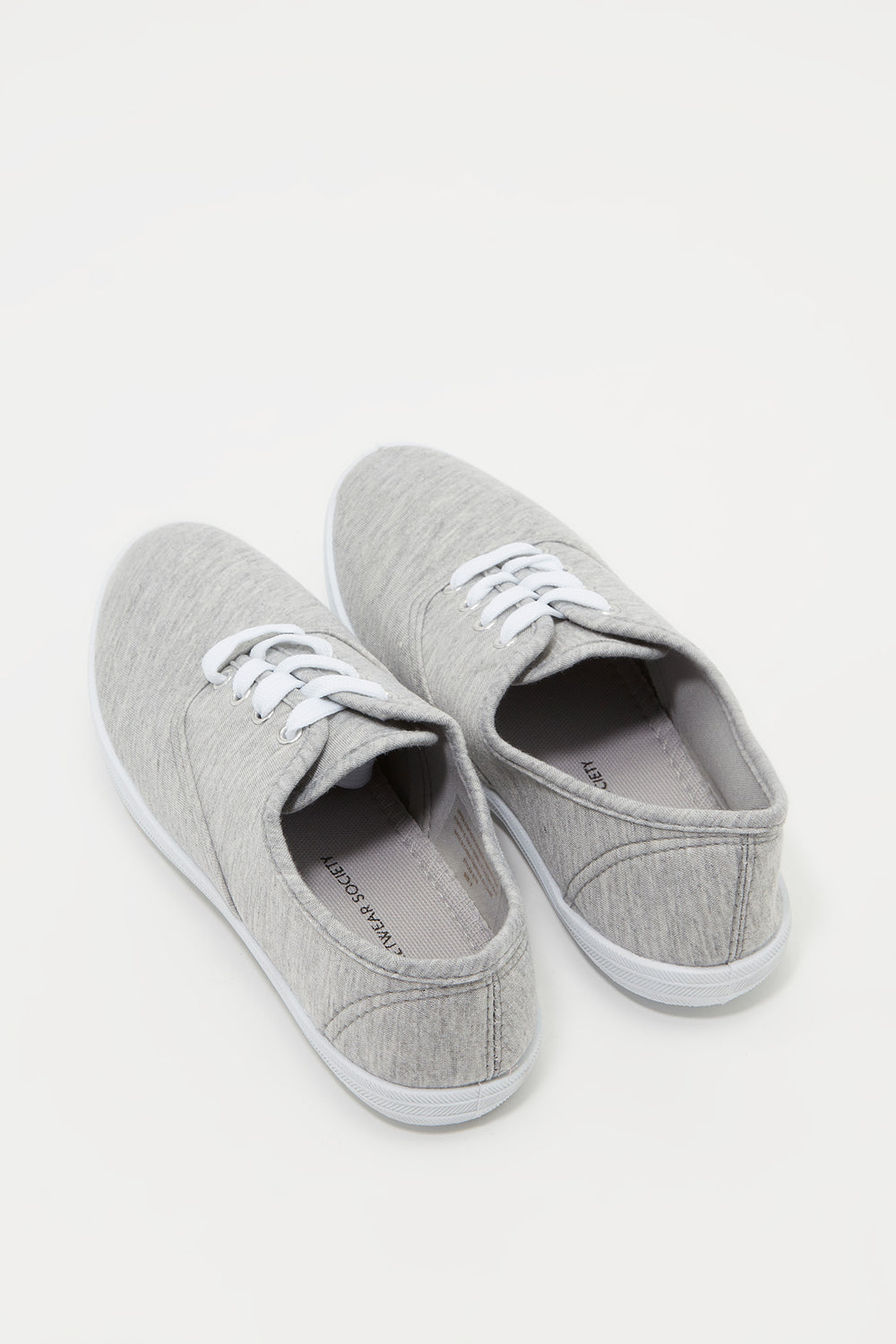Classic Lace Up Tennis Shoe Heather Grey