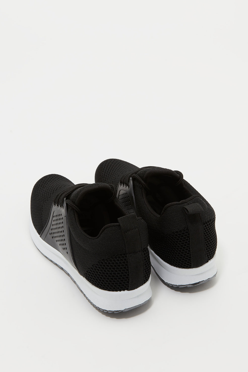 Knit Lace-Up Foam Insole Sneaker Black
