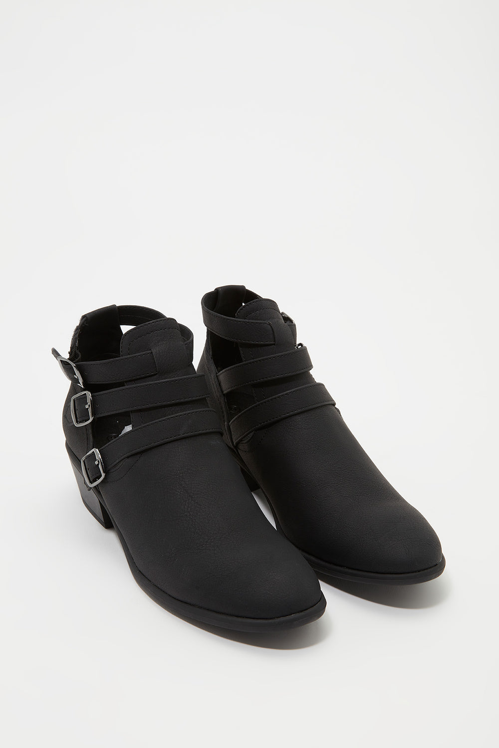 3 Buckle Strap Chelsea Boot Black