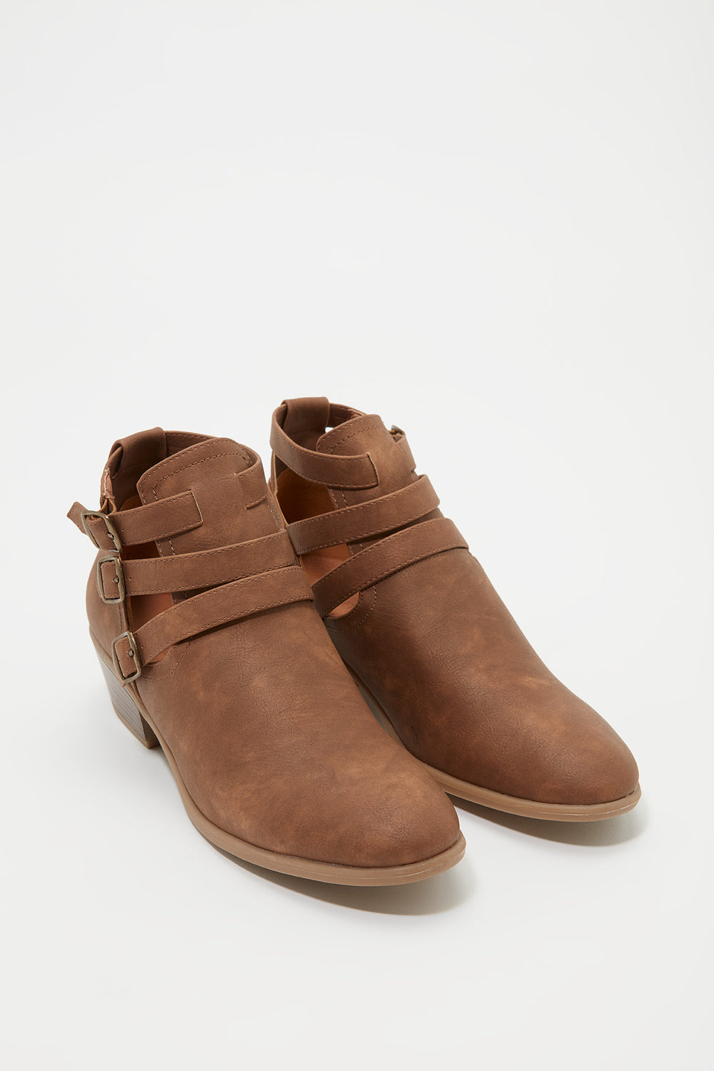 3 Buckle Strap Chelsea Boot Camel