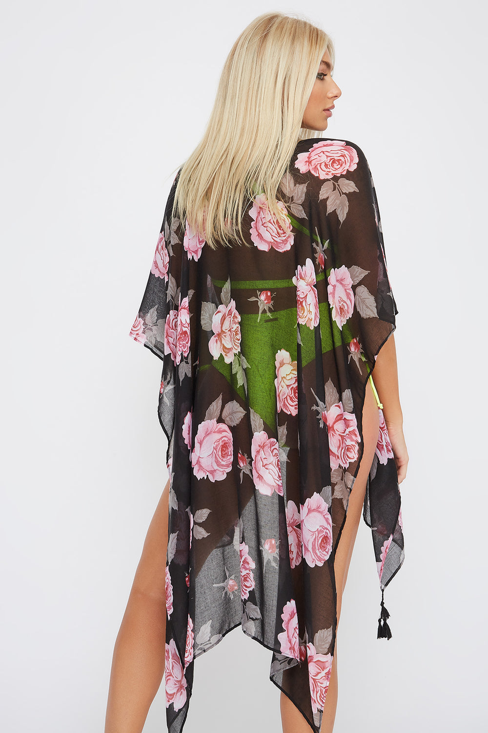 Printed Tassel Cover Up Pink