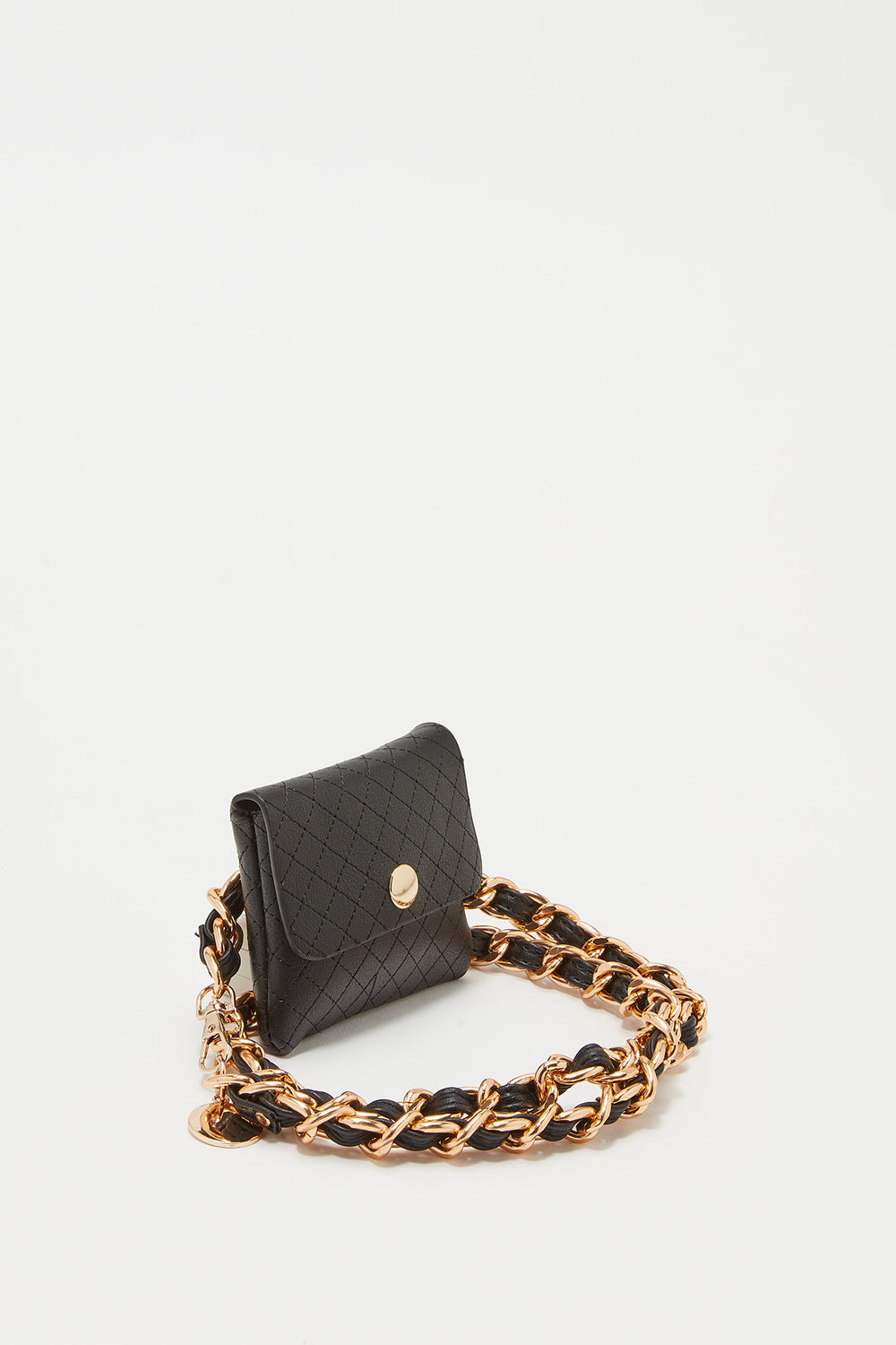 Chain Belt Coin Purse Black