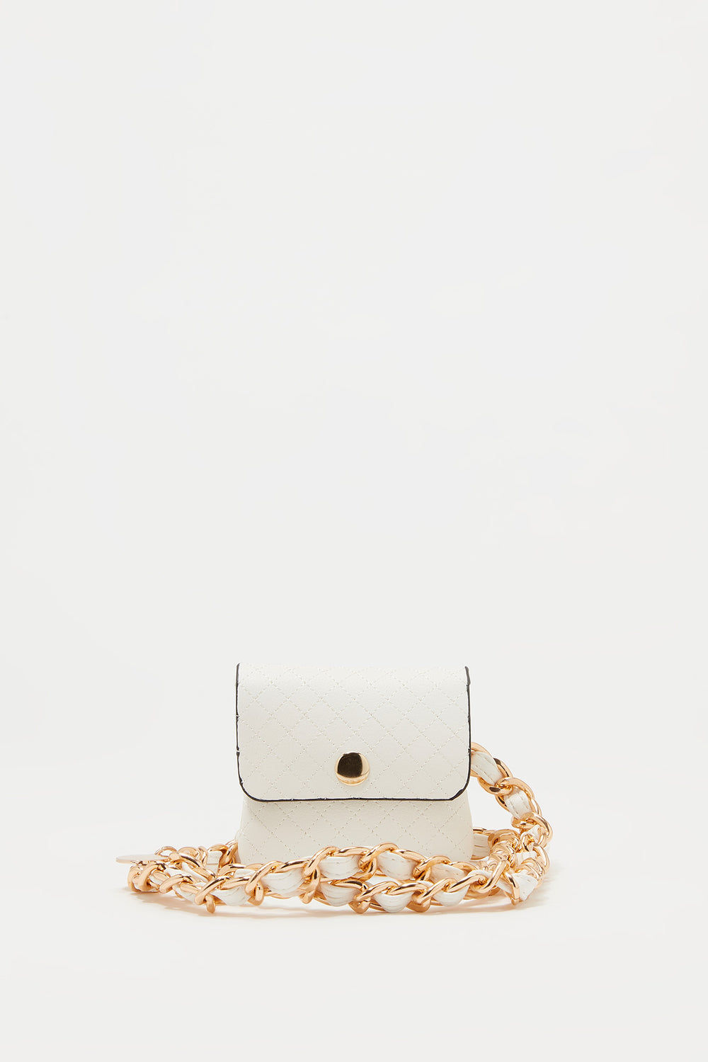 Chain Belt Coin Purse White