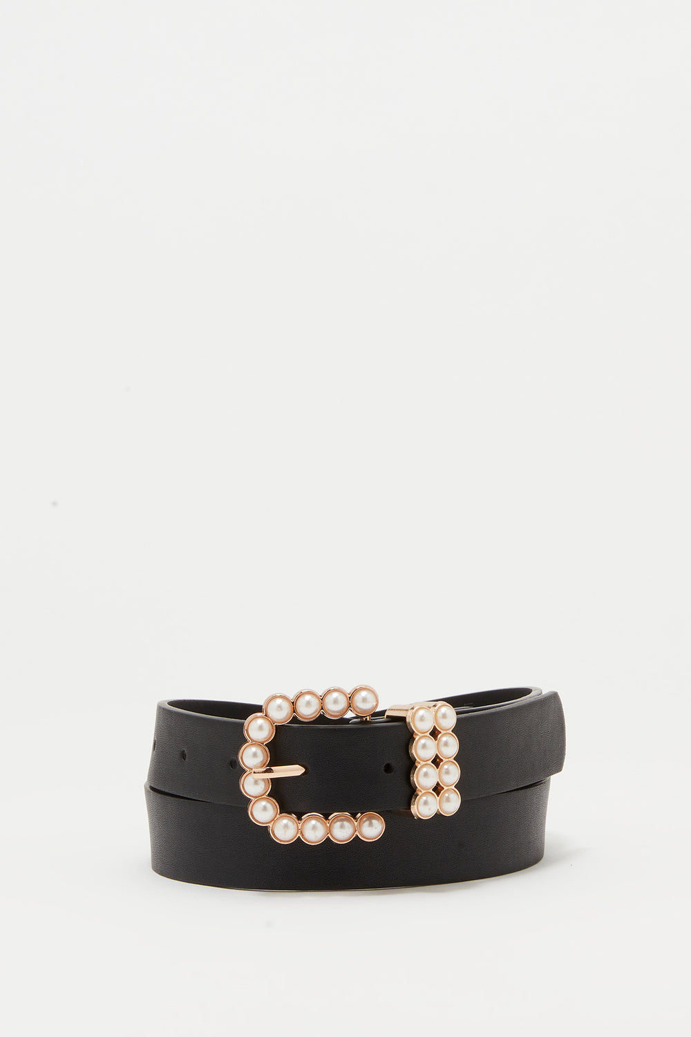 Pearl Buckle Belt Black