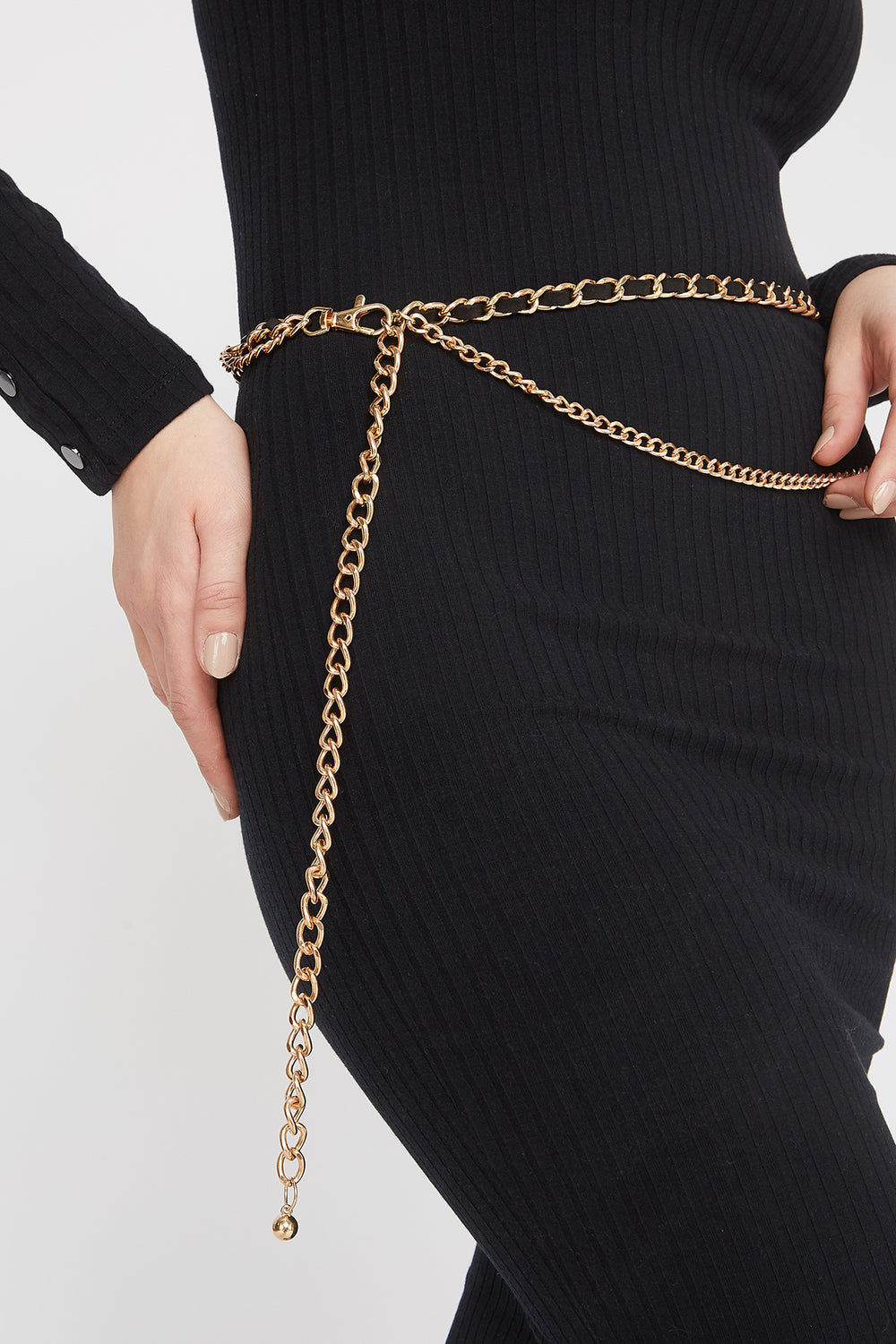 Layered Chain Belt Gold