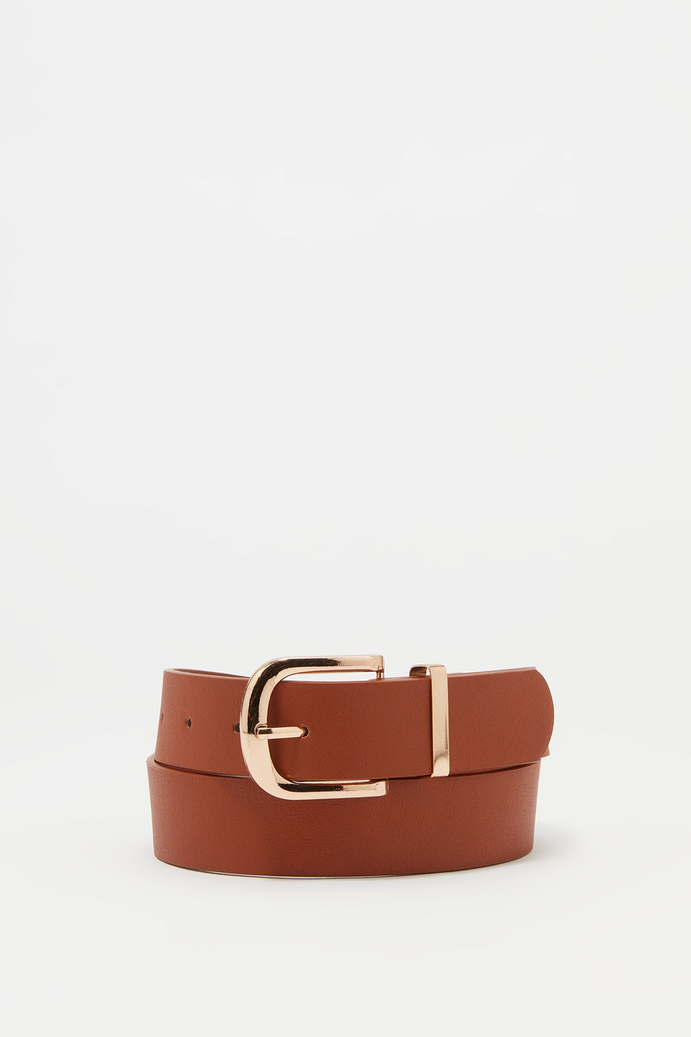 Basic Buckle Belt Camel