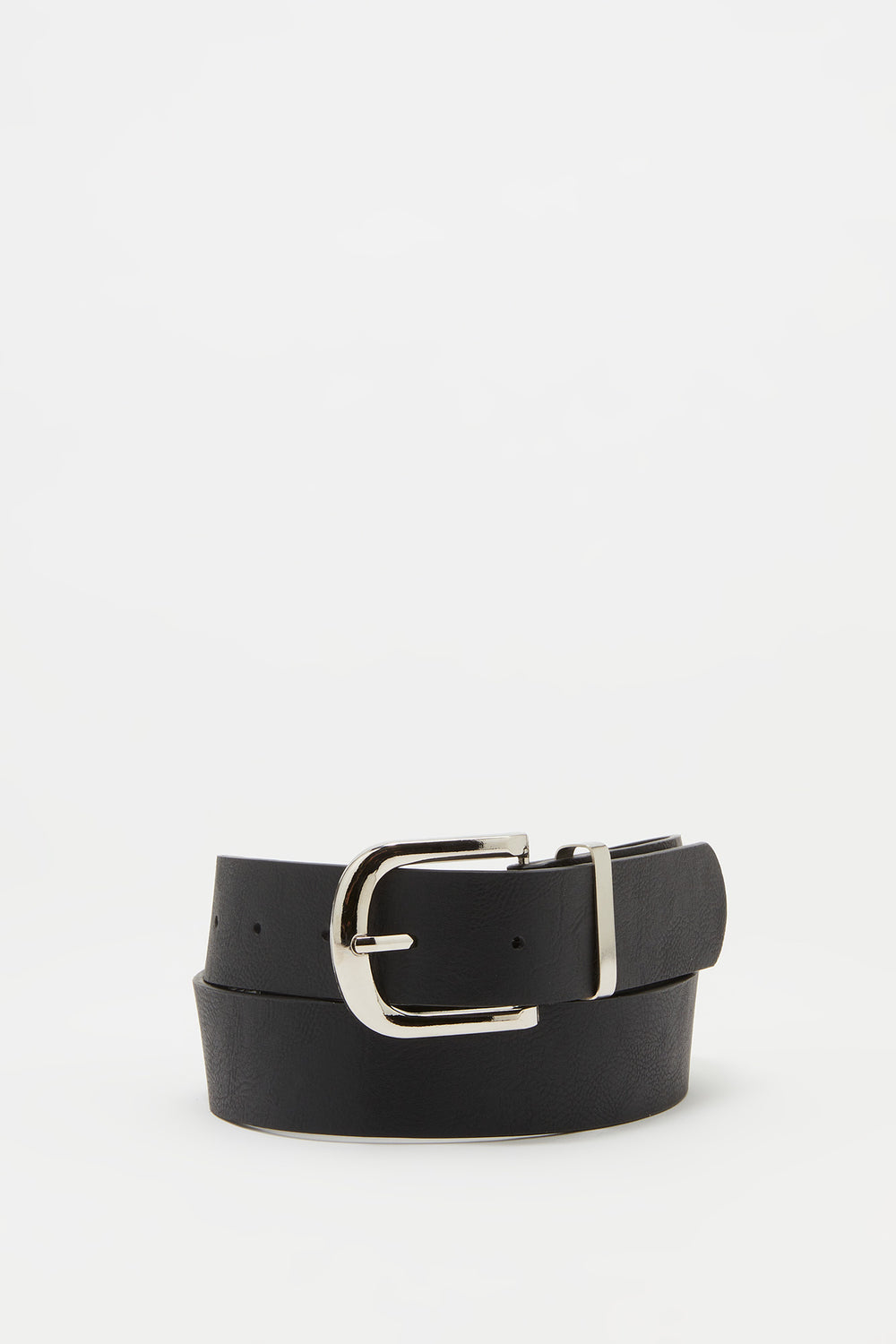 Basic Buckle Belt Solid Black