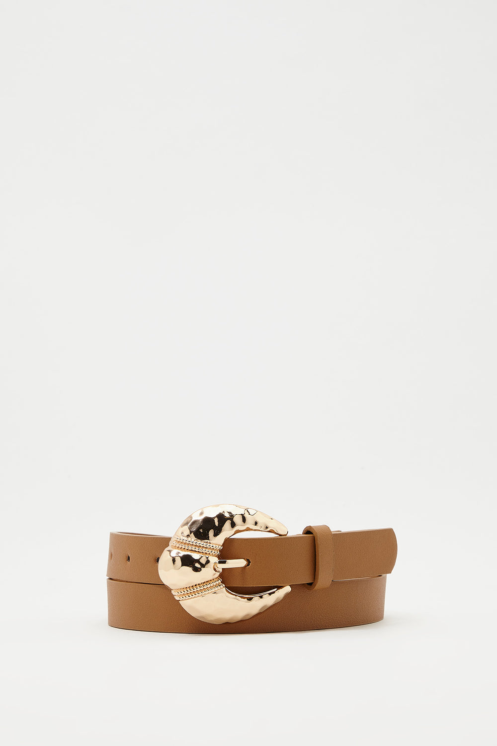 Chunky Buckle Belt Camel