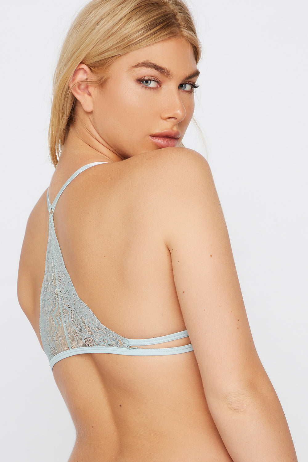 Lace Racerback Bralette Turquoise